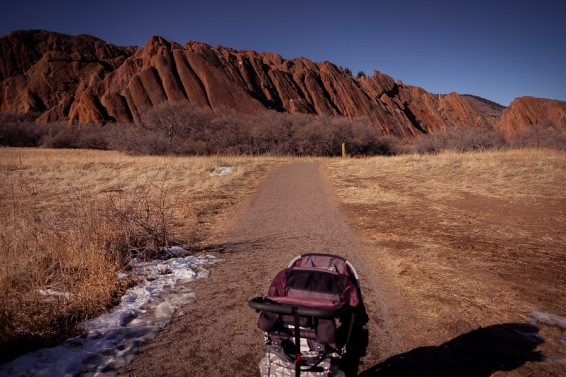 The more scenic side of the trail, from the start of the loop